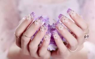 Как правильно клеить стразы на ногти