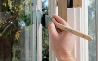 Как правильно красить окна краской