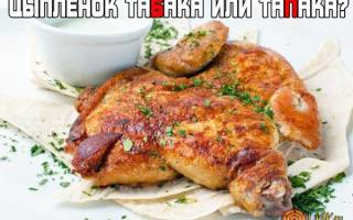 Как правильно называется блюдо цыпленок табака