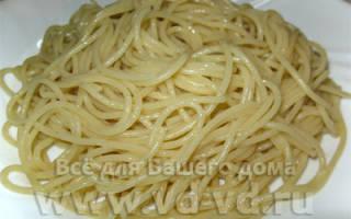 Как правильно готовить спагетти