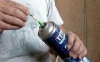 Как правильно использовать монтажную пену