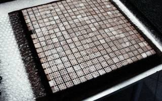 Как правильно клеить мозаику видео