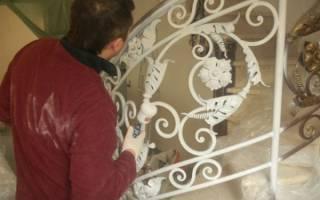 Как правильно красить кованые изделия