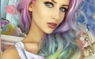 Как правильно красить волосы пастельными мелками