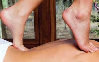 Как правильно делать массаж спины ног