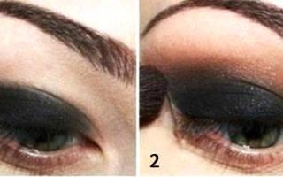Как правильно красить черные глаза