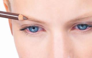 Как правильно красить брови карандашом пошагово видео