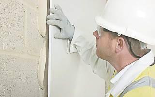 Как правильно клеить гипсокартон на стены